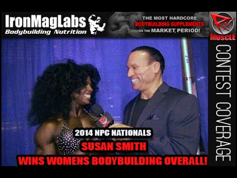 Susan Smith After Winning Women's Bodybuilding Overall At 2014 Nationals!!