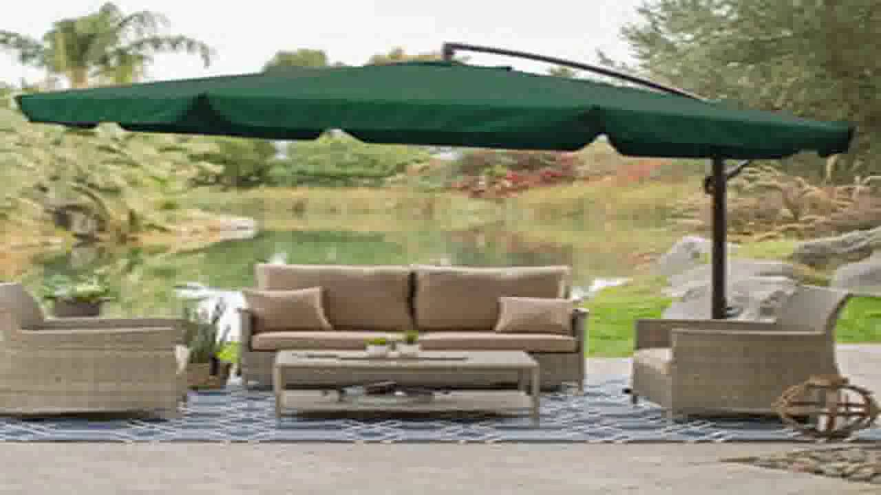 Flexzion 8x8 Gazebo Top Canopy Replacement Cover Ivory Dual Tier With Plain
