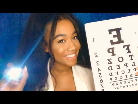 [ASMR] Eye Exam Role - play(Medical Role-play)(Follow the Light)