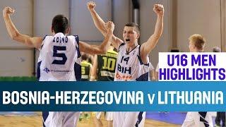 Bosnia and Herzegovina v Lithuania - Highlights - 2nd Round - 2014 U16 European Championship