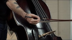 Playing the E String with German Bow - Double Bass Lesson