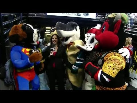 Mascots dressed for Halloween