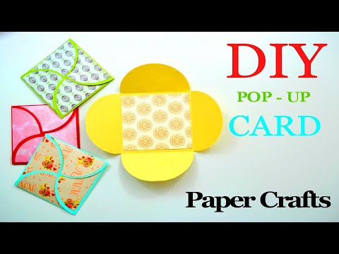 How to make a Greeting Paper Card | DIY Paper Crafts | Lapbook making ideas | Giulia's Art