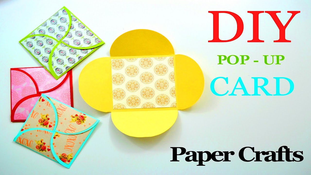DIY Crafts - How to make a Greeting Paper Card - DIY ...