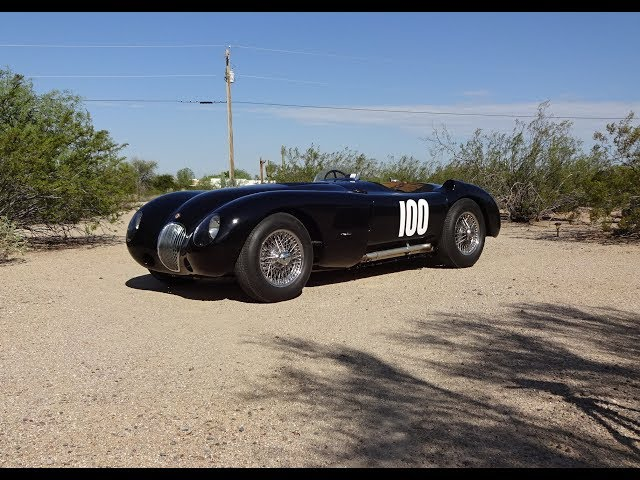 A REAL 1952 Jaguar C-Type C Type # XKC017 & Engine Sound on My Car Story with Lou Costabile