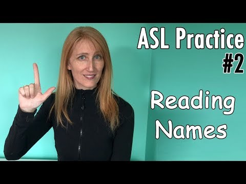 #2 Reading ASL Names Practice   Learn Finger Spelling