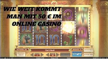 Online Casino Deutsch Test- wie weit kommt man mit 50 €