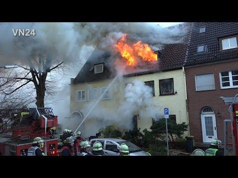 09.01.2019 - VN24 - Zwei Todesopfer bei Hausbrand in Dortmund – Feuerwehr kämpft mit Durchzündungen