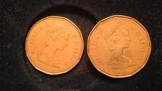 1987 & 1989 Canada One Dollar Coins