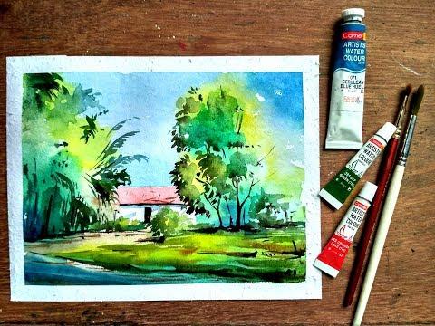 watercolor painting – landscape
