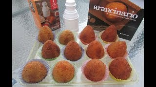 Arancini al burro e al pistacchio con arancinotto  e arancinario...no video product placement