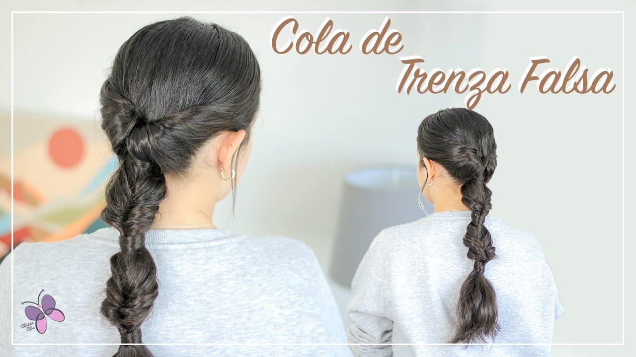 PEINADO FACIL en 3 Minutos   Coleta de Trenza Falsa   Peinado para el Día a Día   Chicas Chic