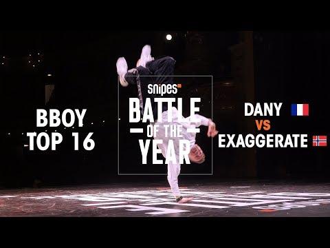 Dany (FRA) vs Exaggerate (NOR)   BOTY 2018 1V1 BBOY TOP 16