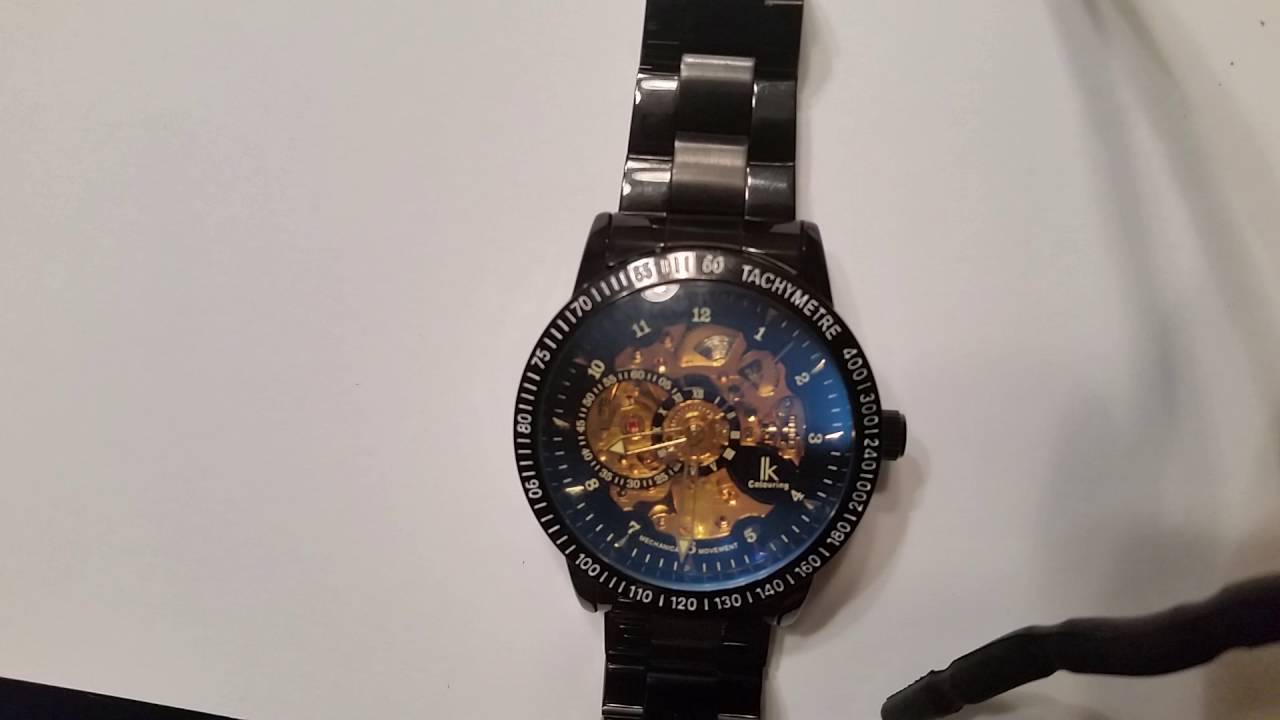 Review Of GuTe Mechanical Wristwatch Made By IK Colouring   $35 Amazon Watch    YouTube