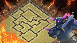 Clash of Clans - BEST HARDCORE TH9 WAR BASE 2016! How to Win Every War!