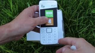 Телефон Fly FF241 распаковка и краткий обзор