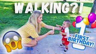 HOW JAYDEN'S FIRST BIRTHDAY WAS AMAZING! ( HE TAKES HIS FIRST STEPS!)