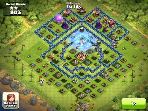 Clash of Clans My attack video 100% from the base like world top 1 player