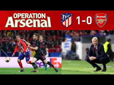 Atletico madrid 1-0 arsenal (2-1) - goodbye arsene wenger.