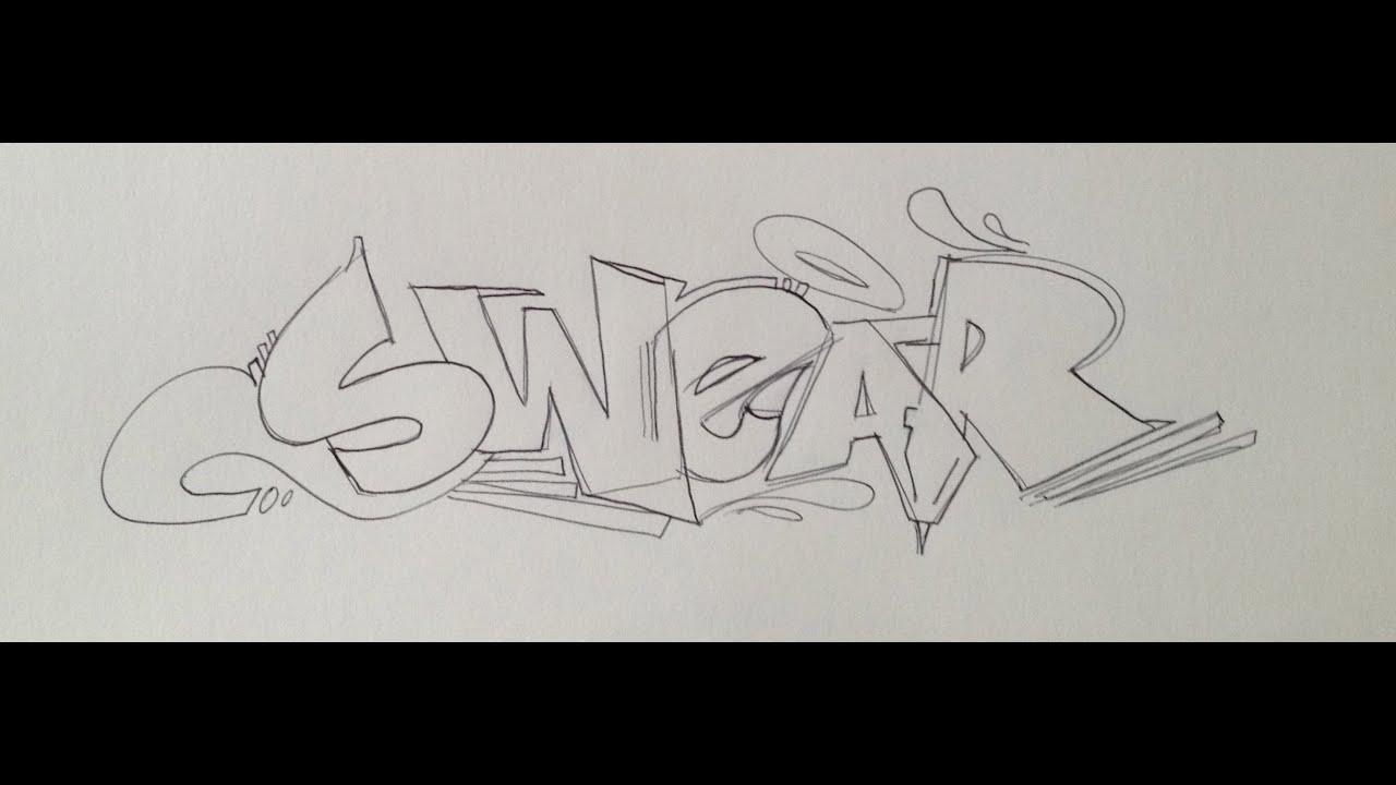 Reskew Graffiti Tutorial 15 Basic Sketching Practice Youtube