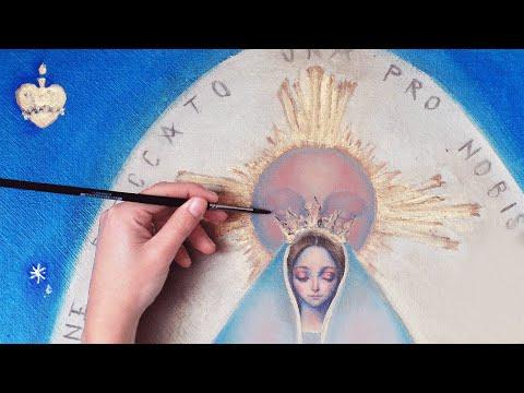 P A I T I N G • V I D E O: Madonna  of the Miraculous Medal