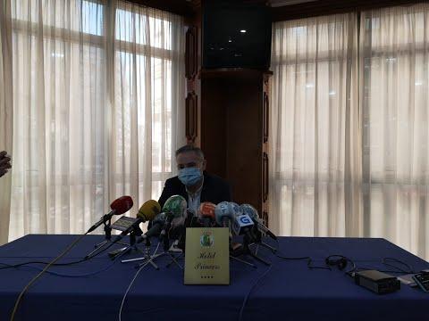 Rueda de prensa de Mario González tras dimitir como concejal de Cultura