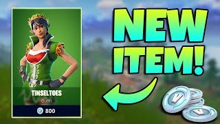 NEW TINSELTOES SKIN AND CRACKDOWN EMOTE GAMEPLAY / Fortnite Battle Royale Live