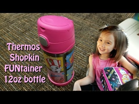 Thermos Shopkins 12oz FUNtainer Bottle Vacuum Insulated Stainless Steel