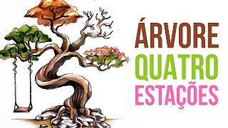 ÁRVORE das Quatro Estações | Tree of Seasons - Speed Drawing #43