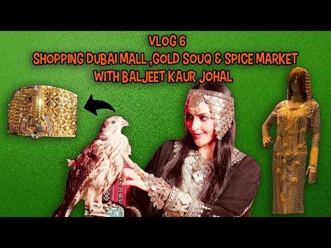 shoping dubai mall ,gold souq & spice market with baljeet kaur johal