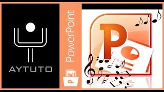 Insertar música durante todas las diapositivas en POWERPOINT
