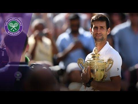 Novak Djokovic lifts the Wimbledon trophy for a fourth time   Wimbledon 2018