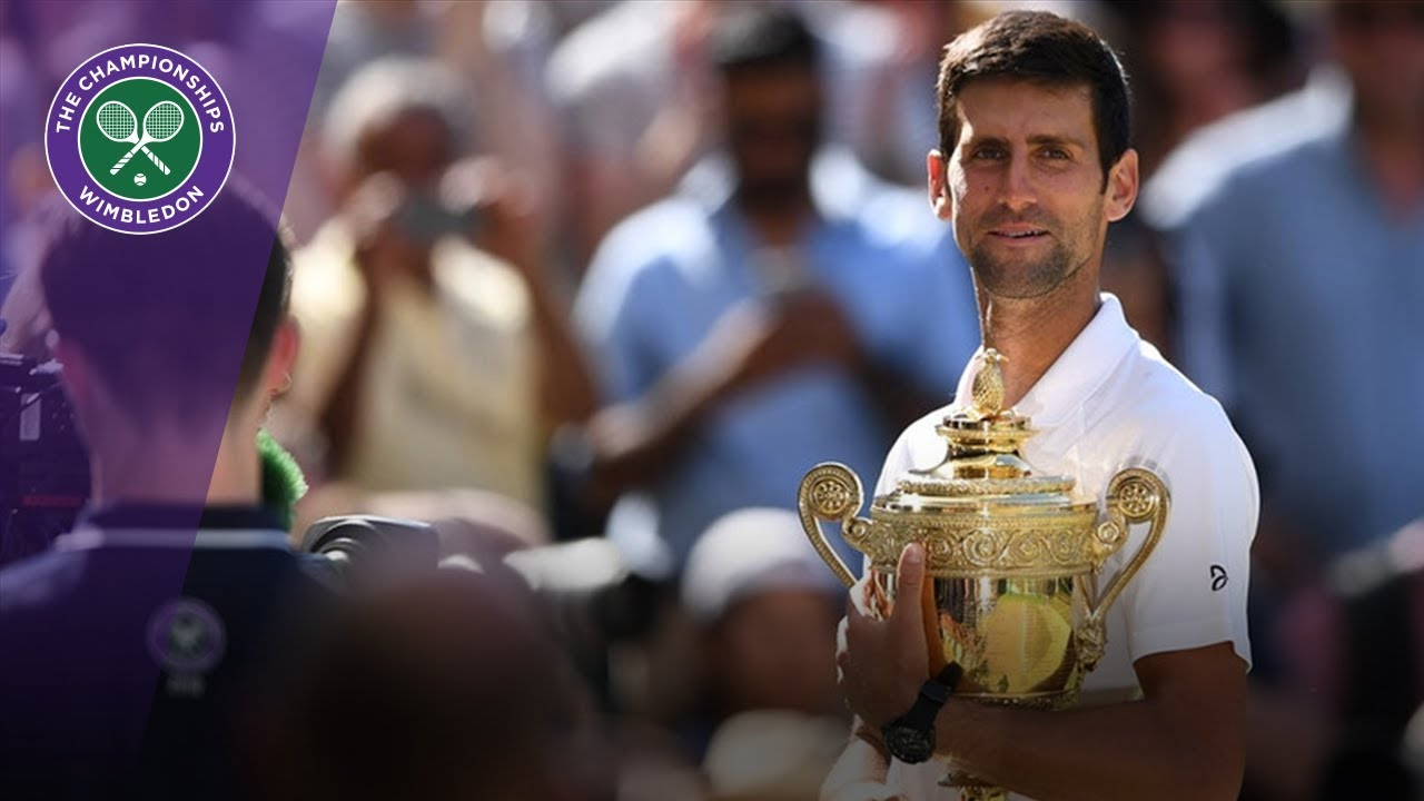 Novak Djokovic Lifts The Wimbledon Trophy For A Fourth Time Wimbledon 2018 Youtube