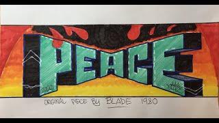 Graffiti Writing Tutorial 6 - BLADE study / homage (USING FELT TIP PENS!)