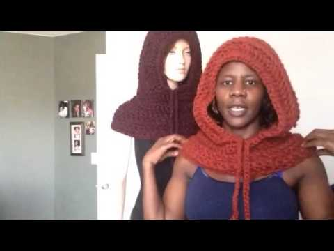 Crochet Hooded Cowl YouTube Extraordinary Hooded Cowl Pattern
