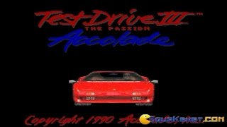 Test Drive 3 gameplay (PC Game, 1990)