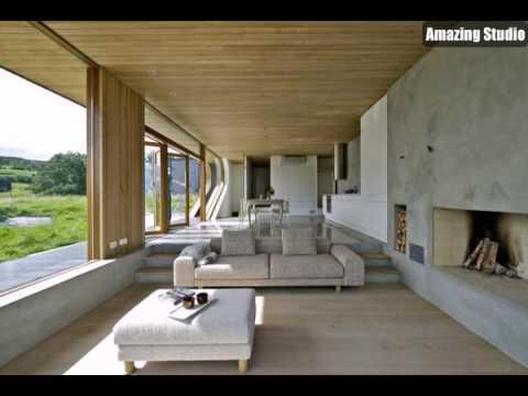 Modernes Design Kabine Wohnzimmer Modernen Möbeln Steinwände