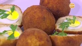 كرات البطاطس بالبيض المسلوق   نجلاء الشرشابي