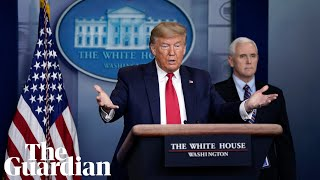 Coronavirus: Trump updates reporters at daily briefing with US task force – watch live