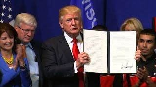 Internet makes fun of Trump's executive orders