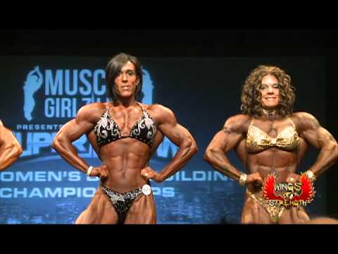 Female women bodybuilding competition