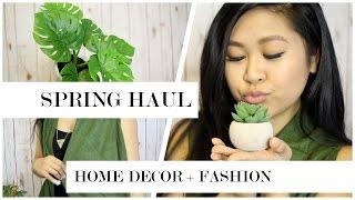 Spring Home Decor Haul! + DIY and Fashion Favorites