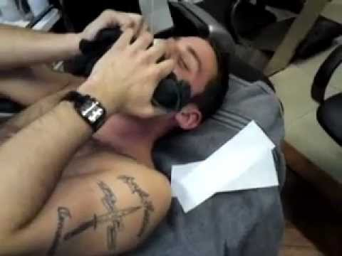 MARINE getting waxed for charity