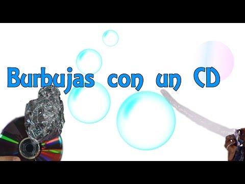 Cómo hacer burbujas gigantes con un CD (Experimentos Caseros)