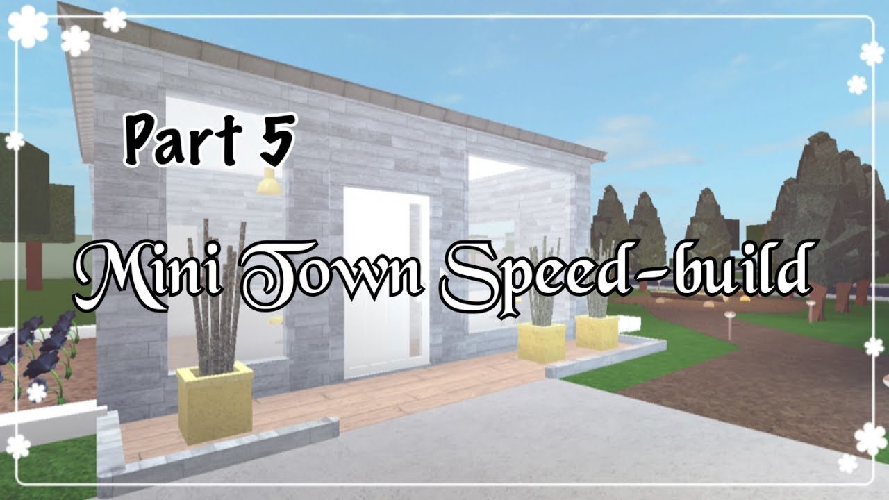 Bloxburg mini town speed build part 5 youtube for Kitchen designs bloxburg