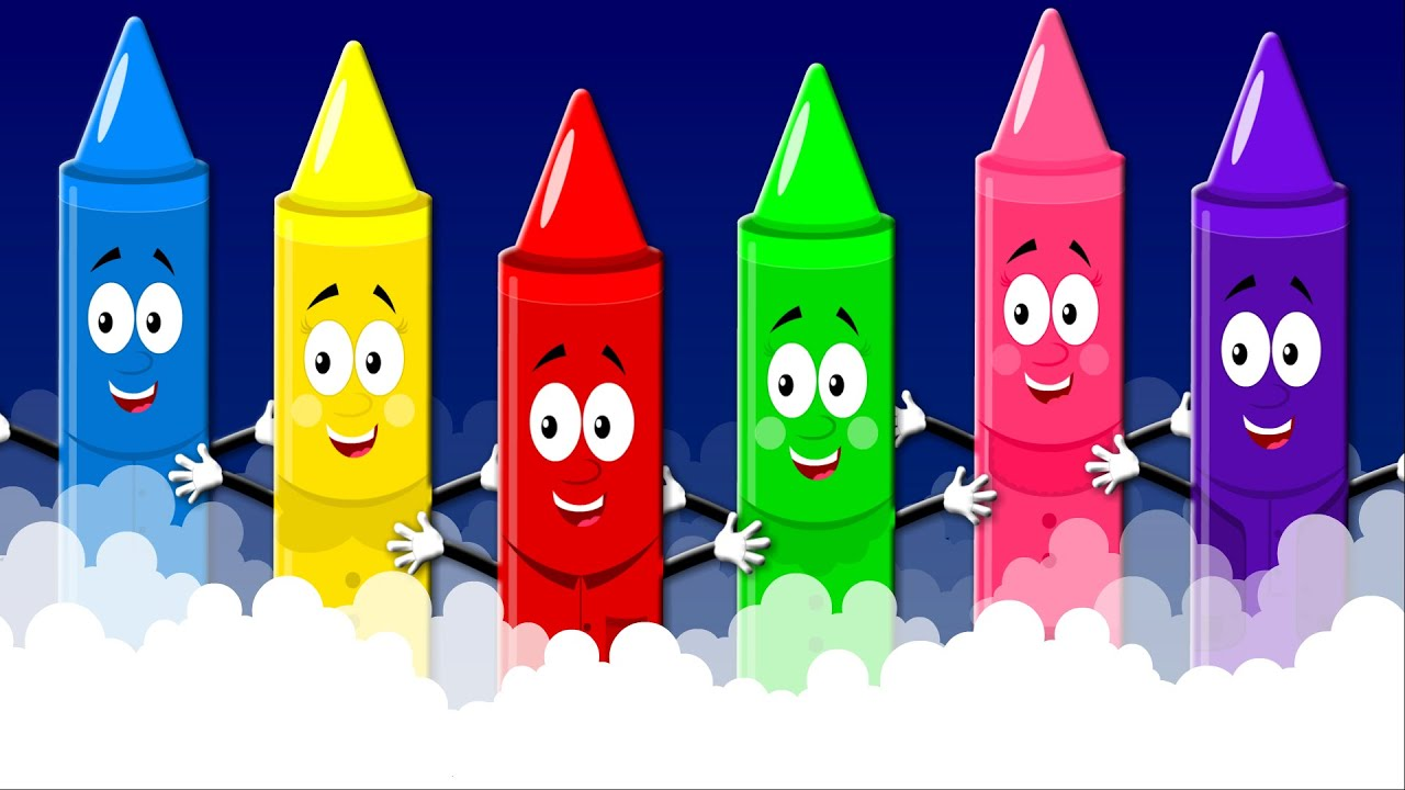 Crayons Color Song | Nursery Rhymes For Kids | Learn Colors - YouTube