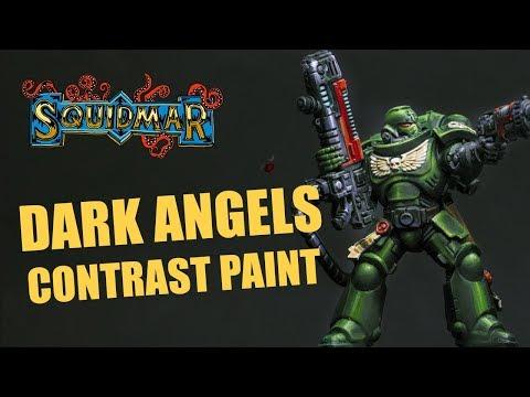 How to Paint Primaris Dark Angels with Contrast Paints (Hellblaster Sergeant)
