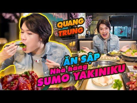 Quang Trung ĂN SẬP nhà hàng Sumo Yakiniku   Một mình cân hết phần ăn 8 người!
