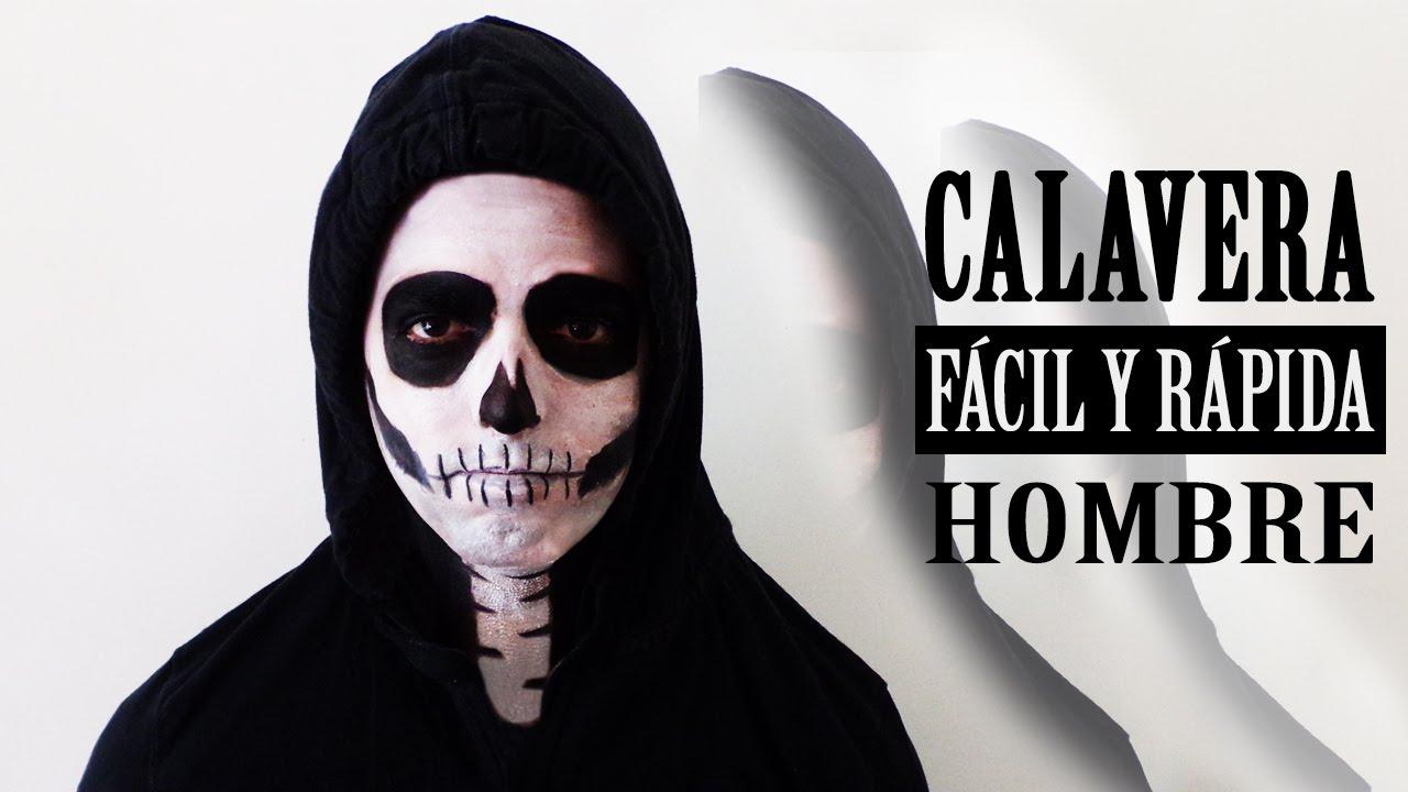 MAQUILLAJE HALLOWEEN CALAVERA FCIL Y RPIDA HOMBRE YouTube