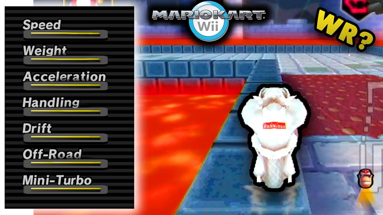 Breaking Every Mario Kart Wii World Record In 1 Try Max Stats Retro Cups Youtube